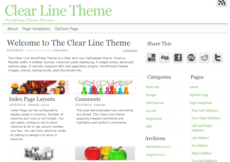 clearline WordPress Theme