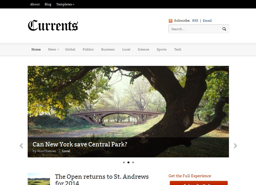 Currents WordPress Magazine Theme