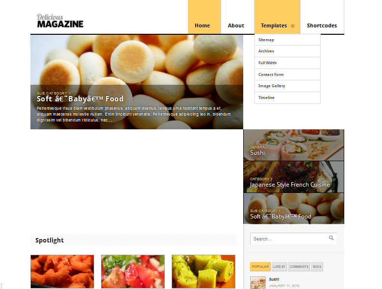 delicius magazine wordpress theme