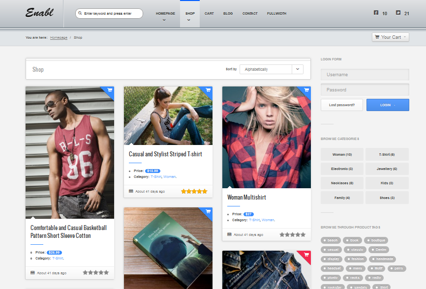 enabl wordpress ecommerce theme