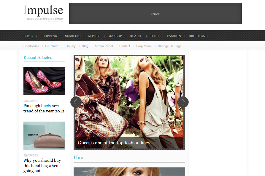 Impulse Clean Magazine WordPress Theme