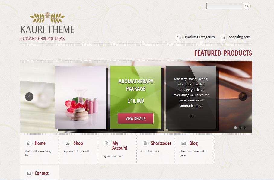 kauri ecommerce wordPress Themes