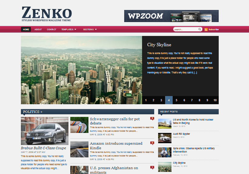 zenko wordpress theme for newspapers