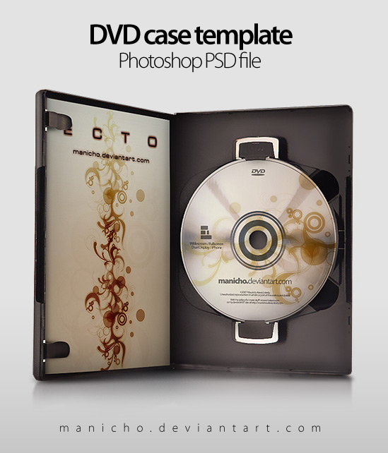 DVD Case Art PSD file by manicho