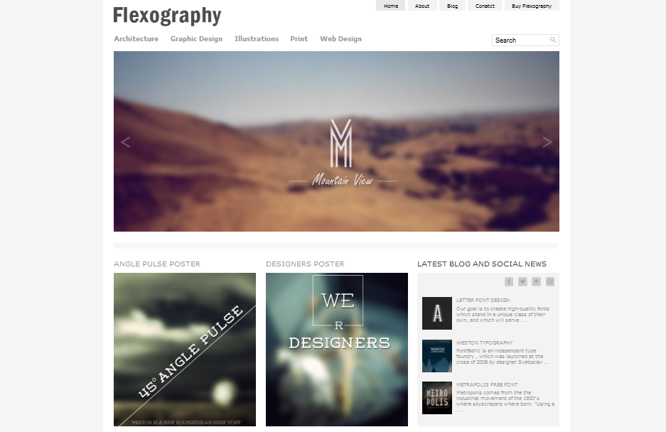 Flexography best example of minimal wordpress theme