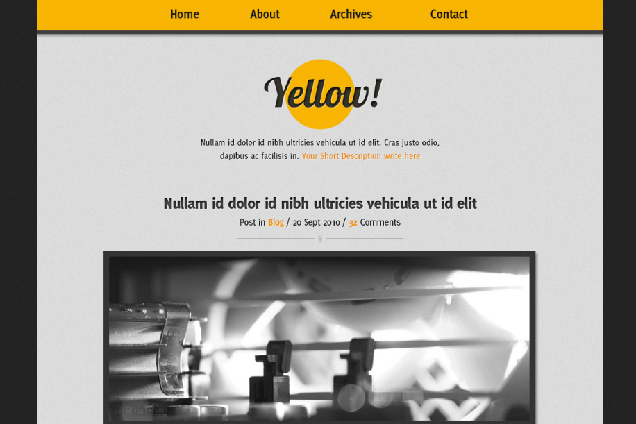 Yellow Minimalist Blog