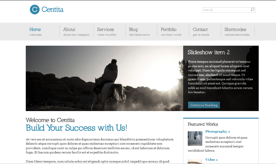 Centita Top Elegent WordPress Theme