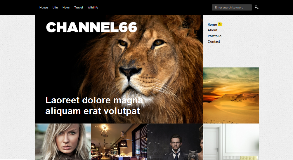 Channel 66 minimal WordPress theme