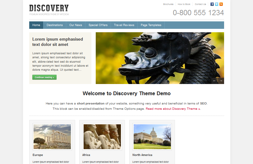 Discovery Top Elegent WordPress Theme