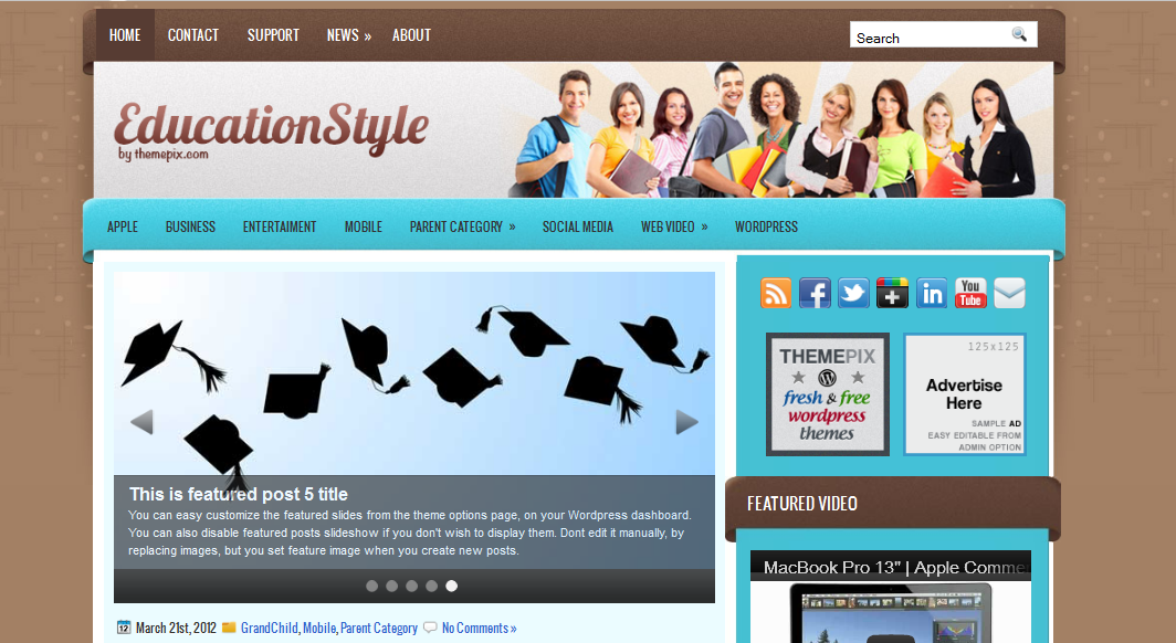 education style problogging wordpress theme