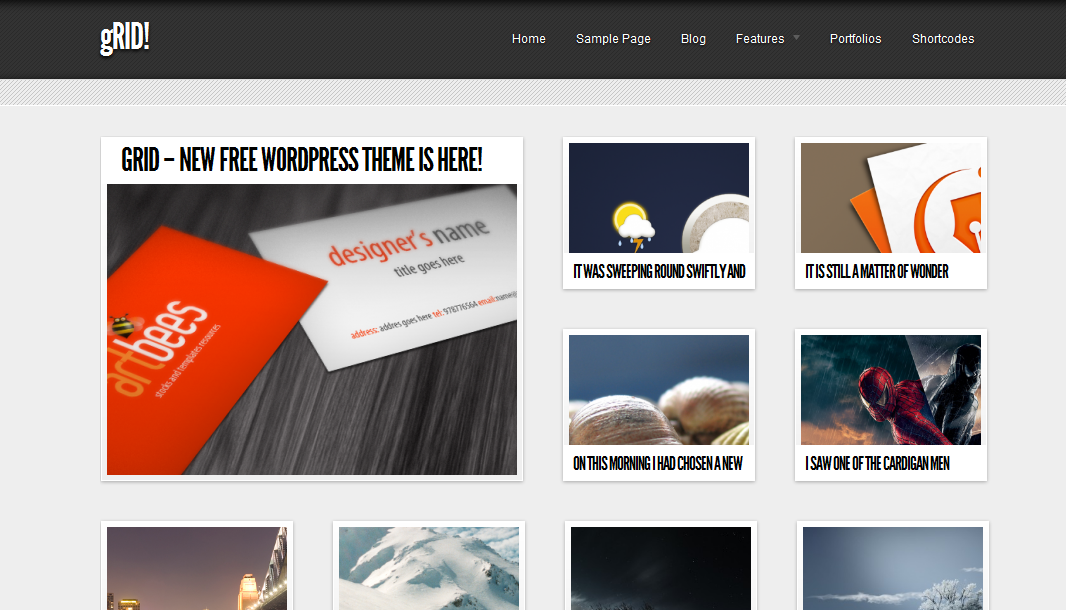 Grid Simple and Elegent WordPress Theme