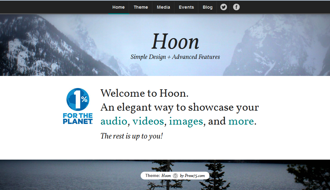 hoon wordpress theme