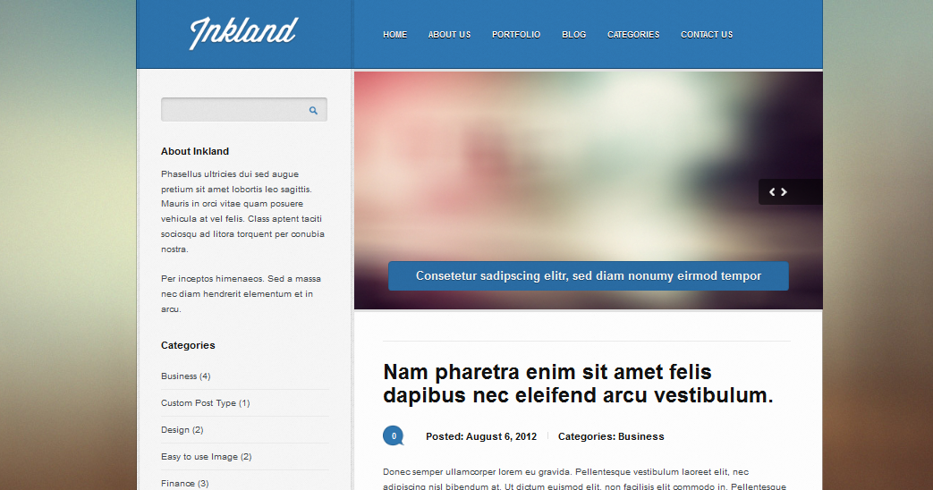 Inkland best wordpress Theme