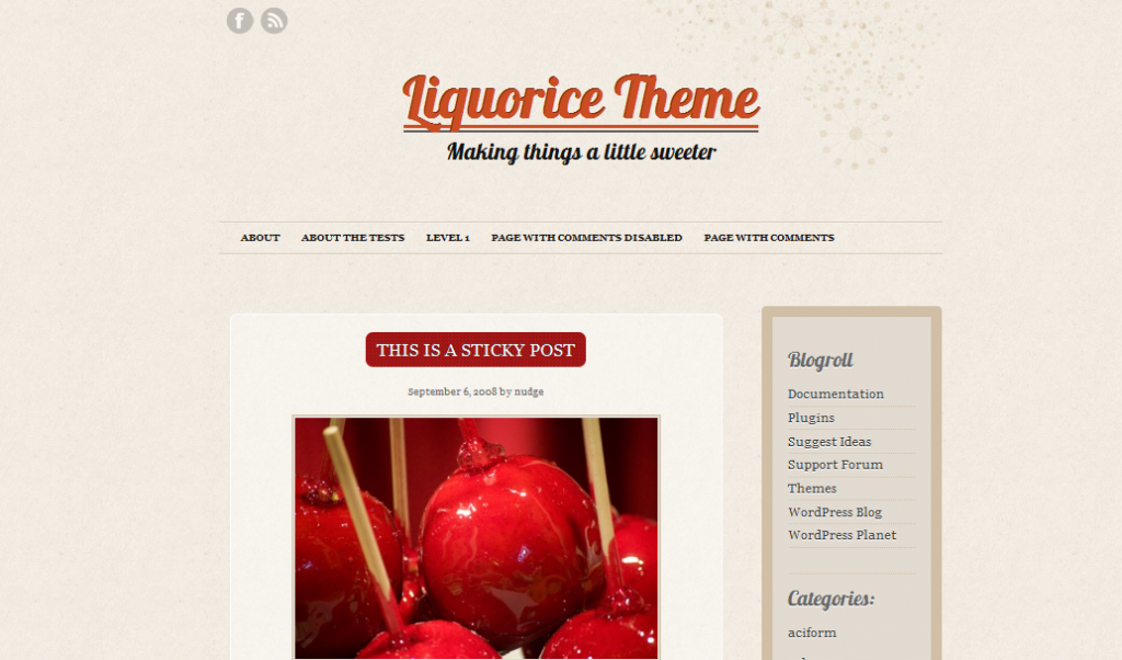 liquorice theme, A beautiful vintage design