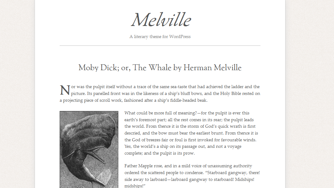 Melville A literary theme for WordPress