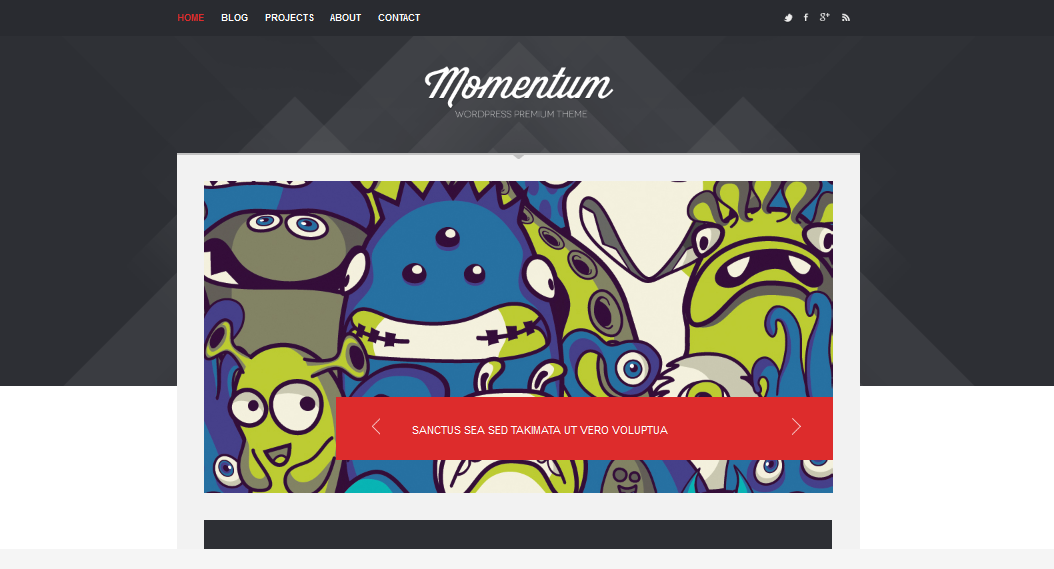 Momentum Decent Business theme for WordPress