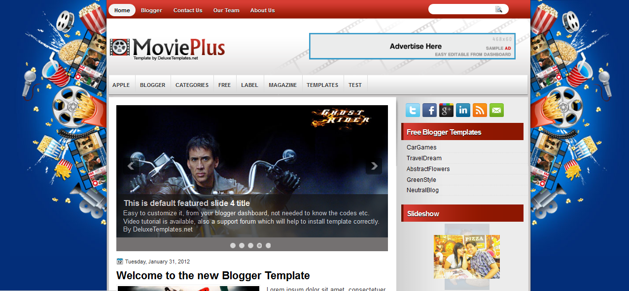movieplus blogging theme for wordpress