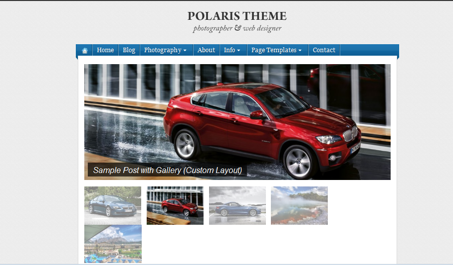 Polaris Simple WordPress Theme