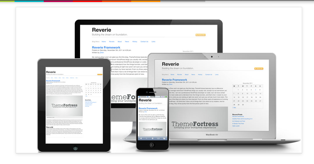 Reverie Responsive wordpress Theme