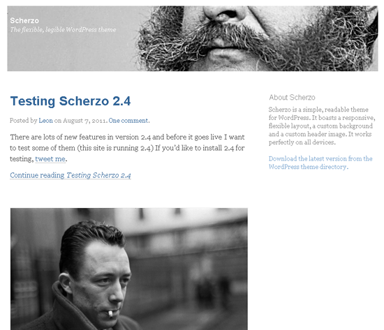 scherzo The flexible, legible WordPress theme