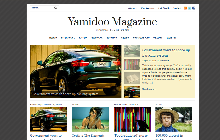 Yamidoo WordPress theme
